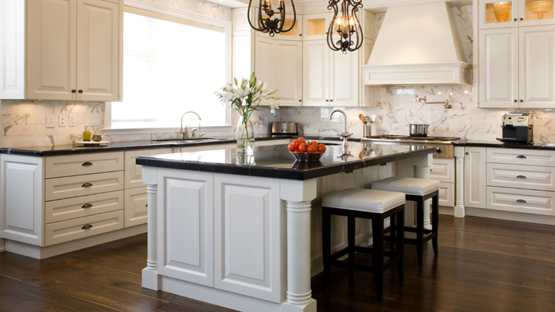 White kitchen cabinets dark countertops - White kitchen dark counters ...